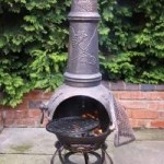 Gardeco Toledo Extra Large Cast Iron Chimenea (GRAPES)